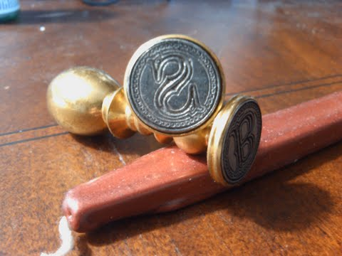 Envelope Wax Seal Tuscany - Letter S