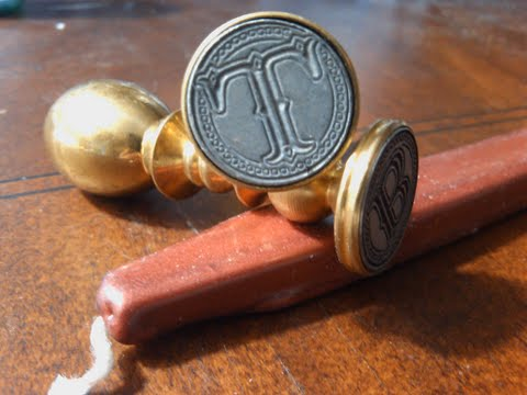 Envelope Wax Seal Tuscany - Letter T