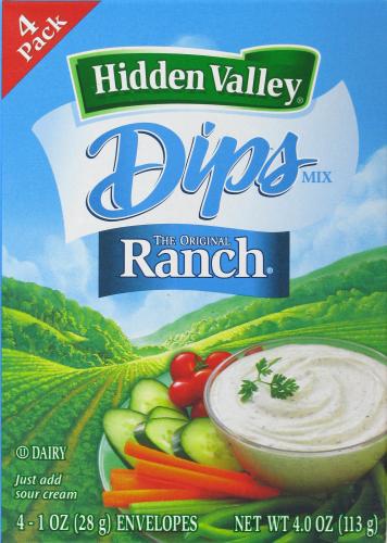 Salad Dressing, Hidden Valley Ranch® Ranch Mix (4 oz Box)