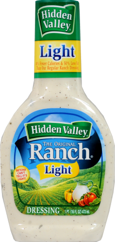 Salad Dressing, Hidden Valley Ranch® Light Ranch (16 oz Bottle)