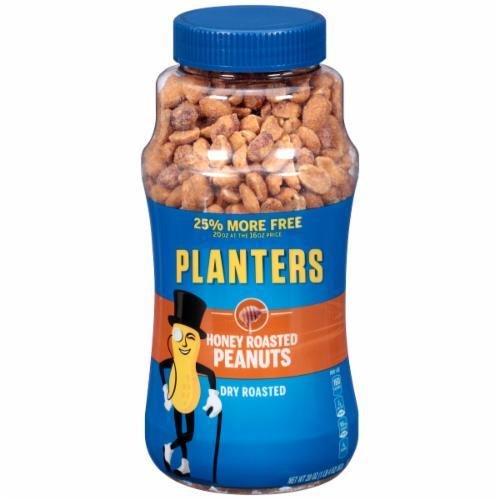 Snack Food, Planters® Dry Honey Roasted Peanuts (16 oz Jar)