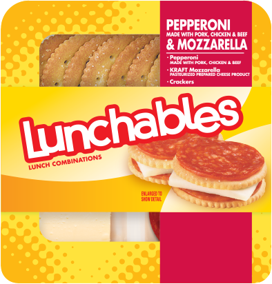 Pizza Snack, Lunchables® Pepperoni & Mozzarella With Crackers (2.25 oz Tray)