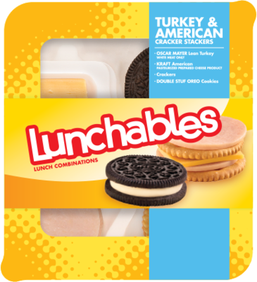 Pizza Snack, Lunchables® Turkey & American Cracker Stackers (3.4 oz Tray)