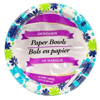 Dinnerware, De Marque® Floral Paper Bowls (12 oz Bowl - 10 Bowls)