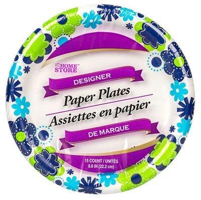 Dinnerware, De Marque® Floral Paper Plates (8.625