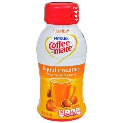 Coffee Creamer, Coffee-Mate® Hazelnut Liquid Creamer (8 oz Bottle)