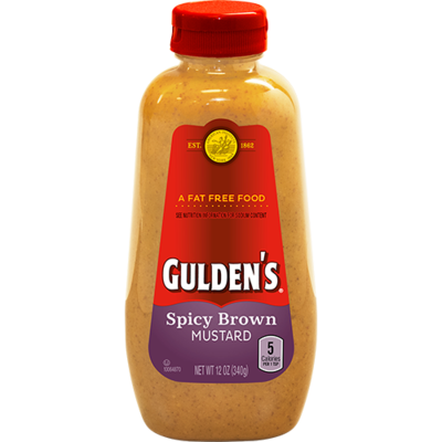 Mustard, Gulden's® Spicy Brown Mustard (12 oz Bottle)