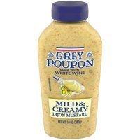 Mustard, Grey Poupon® Mild and Creamy Dijon Mustard (10 oz Bottle)
