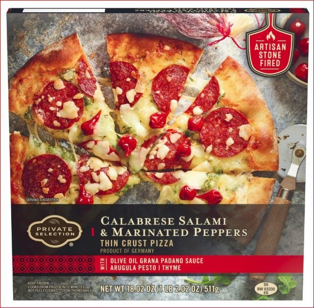 Frozen Pizza, Private Selection® Calabrese Salami & Marinated Peppers Pizza (18.2 oz Box)