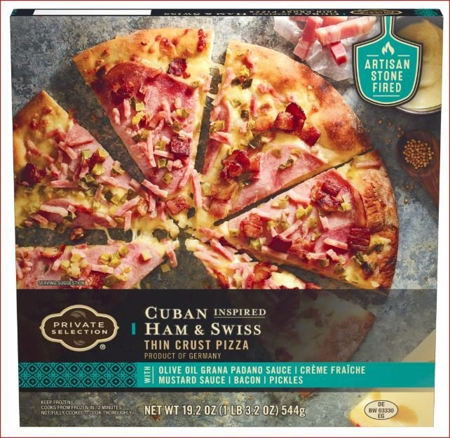 Frozen Pizza, Private Selection® Cuban Inspired Ham & Swiss Pizza (19.2 oz Box)