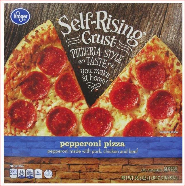 Frozen Pizza, Kroger® Self-Rising Crust Pepperoni Pizza (29.6 oz Box)