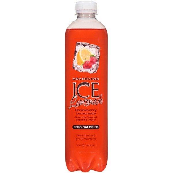 Flavored Water, Sparkling Ice® Strawberry Lemonade (Single 17 oz Bottle)