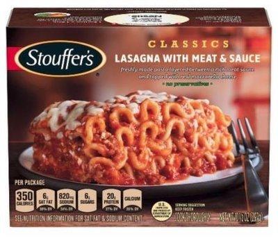 Frozen Lasagna, Stouffer's® Lasagna with Meat & Sauce (10.5 oz Box)