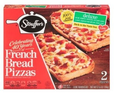 Pizza Bread, Stouffer's® Deluxe French Bread Pizza (12.37 oz Box)