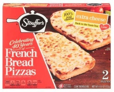Pizza Bread, Stouffer's® Extra Cheese French Bread Pizza (11.75 oz Box)