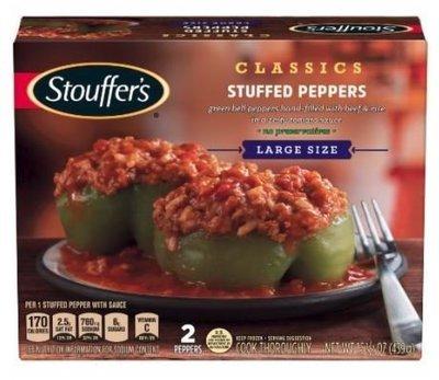 Frozen Dinner, Stouffer's® Stuffed Peppers (15.5 oz Box)
