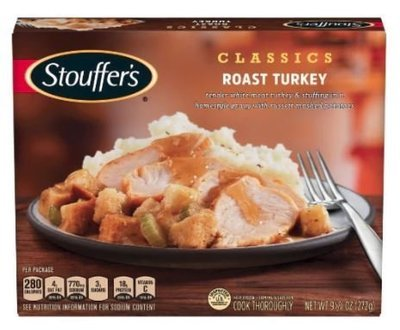 Frozen Dinner, Stouffer's® Roast Turkey (9.625 oz Box)