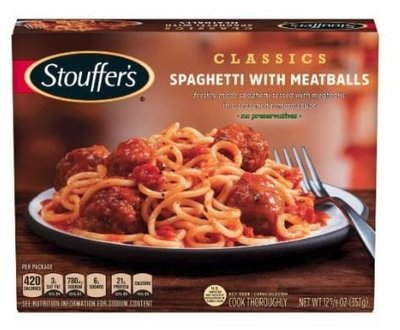 Frozen Dinner, Stouffer's® Spaghetti with Meatballs (12.625 oz Box)