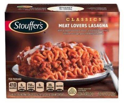 Frozen Lasagna, Stouffer's® Meat Lovers Lasagna (10 oz Box)