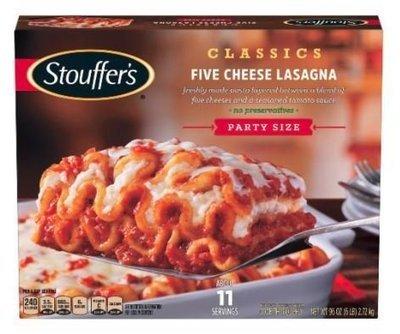 Frozen Lasagna, Stouffer's® Five Cheese Lasagna (97 oz Box)