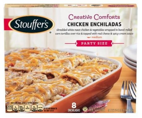 Frozen Dinner, Stouffer's® Chicken Enchiladas (57 oz Box)