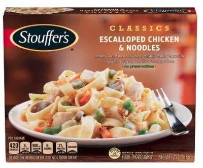 Frozen Dinner, Stouffer's® Escalloped Chicken & Noodles (12 oz Box)