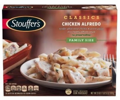 Frozen Dinner, Stouffer's® Chicken Alfredo (31 oz Box)