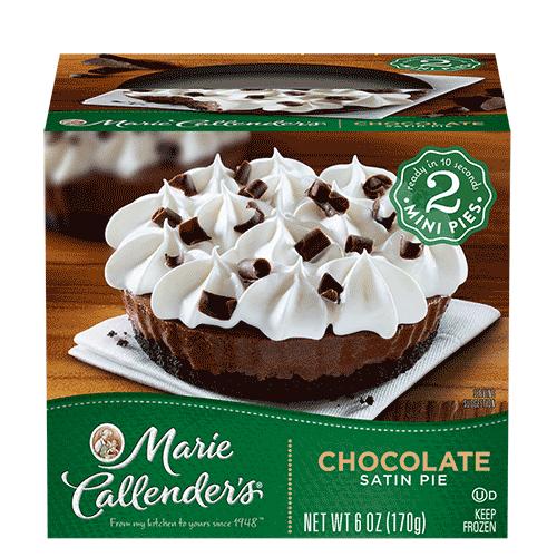Pie, Marie Callender's® 2 Mini Chocolate Satin Pies (6 oz Box)