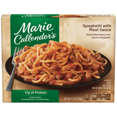 Frozen Dinner, Marie Callender's® Spaghetti with Meat Sauce (15 oz Box)