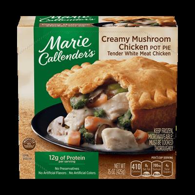 Pot Pie, Marie Callender's® Creamy Mushroom Chicken Pot Pie (15 oz Box)