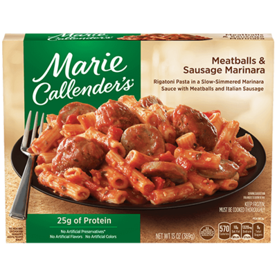 Frozen Meatballs, Marie Callender's® Meatballs & Sausage Marinara (13 oz Box)