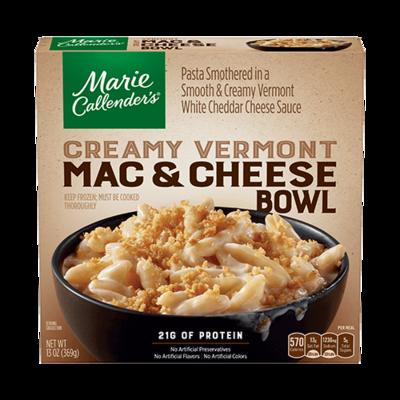 Frozen Dinner, Marie Callender's® Creamy Vermont Mac & Cheese Bowl (13 oz Box)