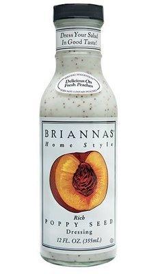 Salad Dressing, Brianna's® Rich Poppy Seed Salad Dressing (12 oz Bottle)