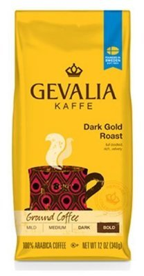 Ground Coffee, Gevalia® Dark Gold Roast Ground Coffee (12 oz Bag)