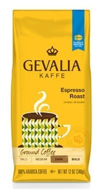 Ground Coffee, Gevalia® Espresso Roast Ground Coffee (12 oz Bag)