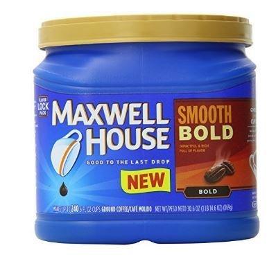 Ground Coffee, Maxwell House® Smooth Bold® Ground Coffee (26.7 oz Tub)