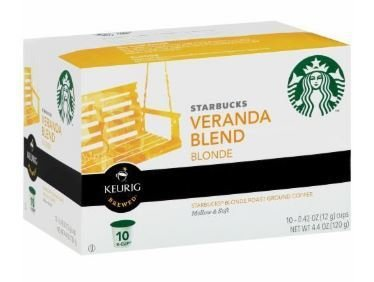 K Cup Coffee, Starbuck's® Veranda Blend® K Cup Coffee (Box of 10 Single K Cups)