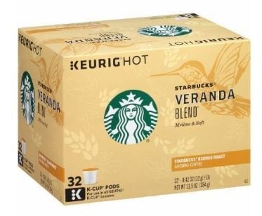 K Cup Coffee, Starbuck's® Veranda Blend® K Cup Coffee (Box of 32 Single K Cups)
