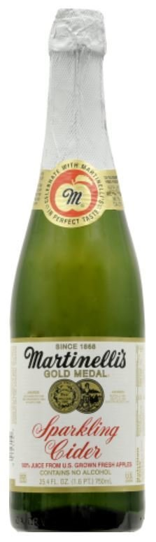 Juice Drink, Martinelli's® Sparkling Apple Cranberry Juice (25.4 oz Bottle)
