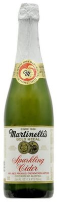 Juice Drink, Martinelli's® Sparkling Apple Cranberry Juice (25.4 oz Bottle)