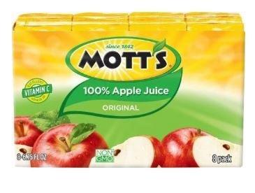 Apple Juice, Mott's® 100% Original Apple Juice  (8 Count, 6.75 oz Boxes)