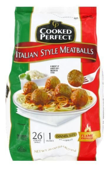 Frozen Meatballs, Cooked Perfect® Italian Style Meatballs (26 oz Bag)
