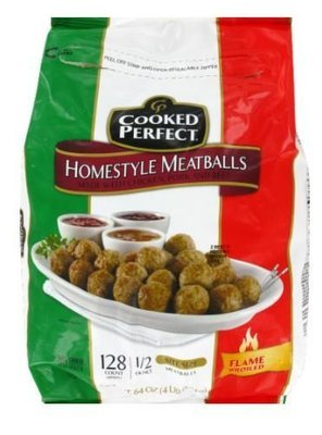 Frozen Meatballs, Cooked Perfect® Homestyle Meatballs (64 oz Bag)