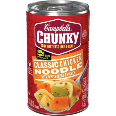 Canned Soup, Campbell's® Chunky® Classic Chicken Noodle Soup (18.8 oz Can)