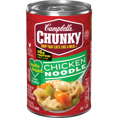 Canned Soup, Campbell's® Chunky® Healthy Request Chicken Noodle Soup (18.8 oz Can)
