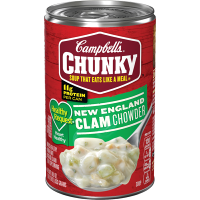Soup, Campbell's® Chunky® Healthy Request New England Clam Chowder (18.8 oz Can)