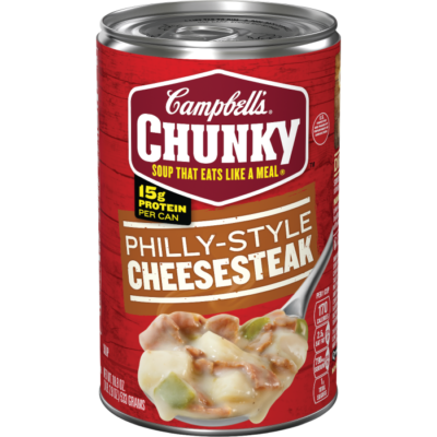 Canned Soup, Campbell's® Chunky® Philly-Style Cheesesteak Soup (18.8 oz Can)