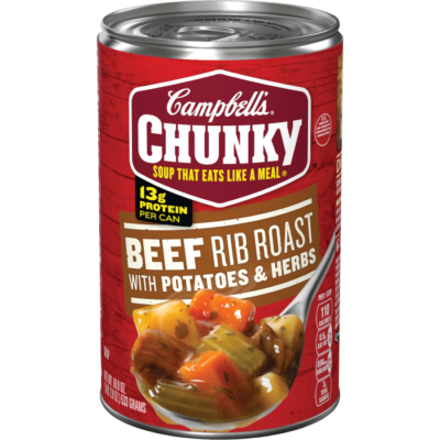 Canned Soup, Campbell's® Chunky® Beef Rib Roast with Potatoes and Herbs Soup (18.8 oz Can)