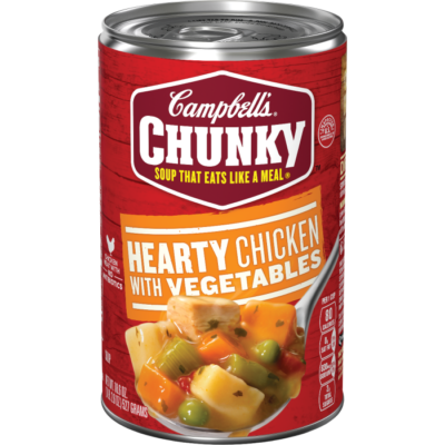Canned Soup, Campbell's® Chunky® Hearty Chicken with Vegetables Soup (18.8 oz Can)