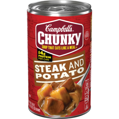 Canned Soup, Campbell's® Chunky® Steak & Potato Soup (18.8 oz Can)